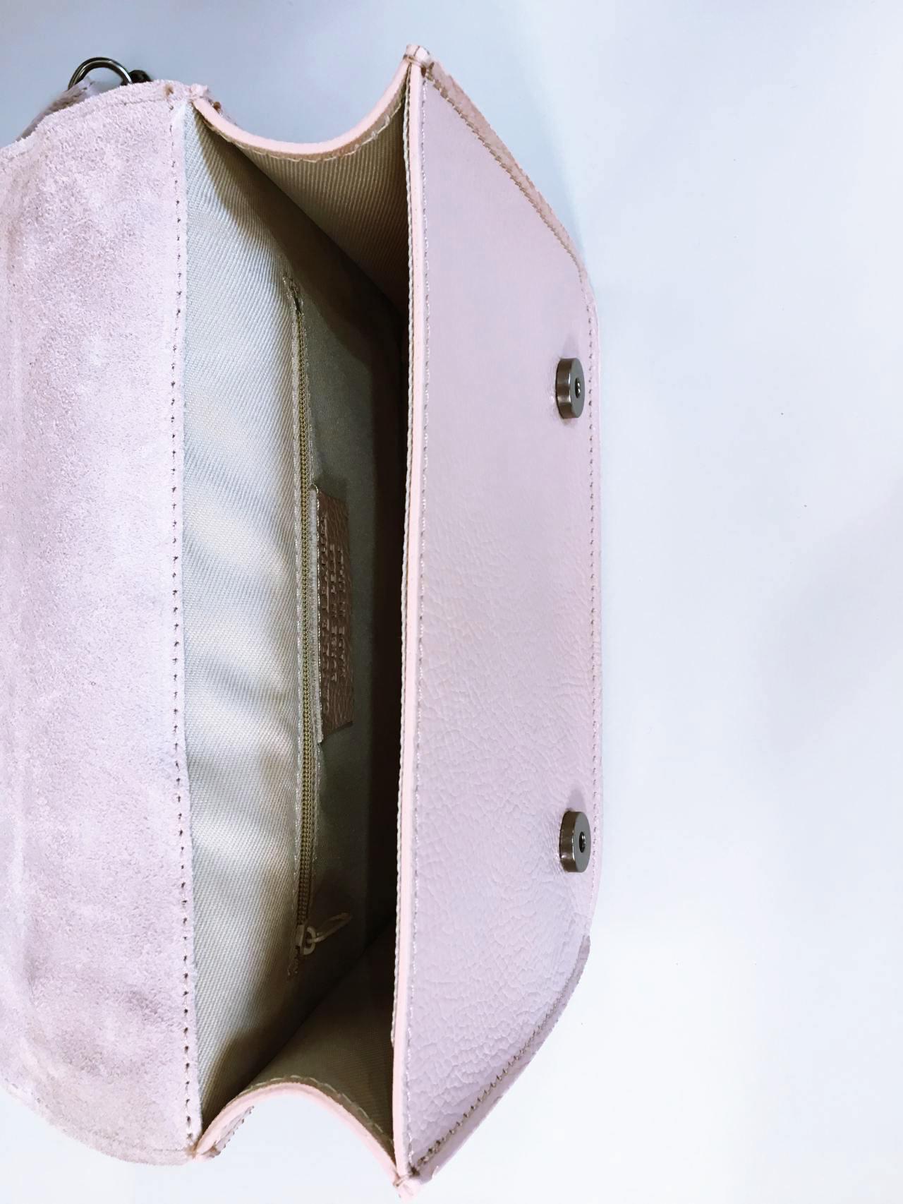 Kožená kabelka Donna pudrová 06