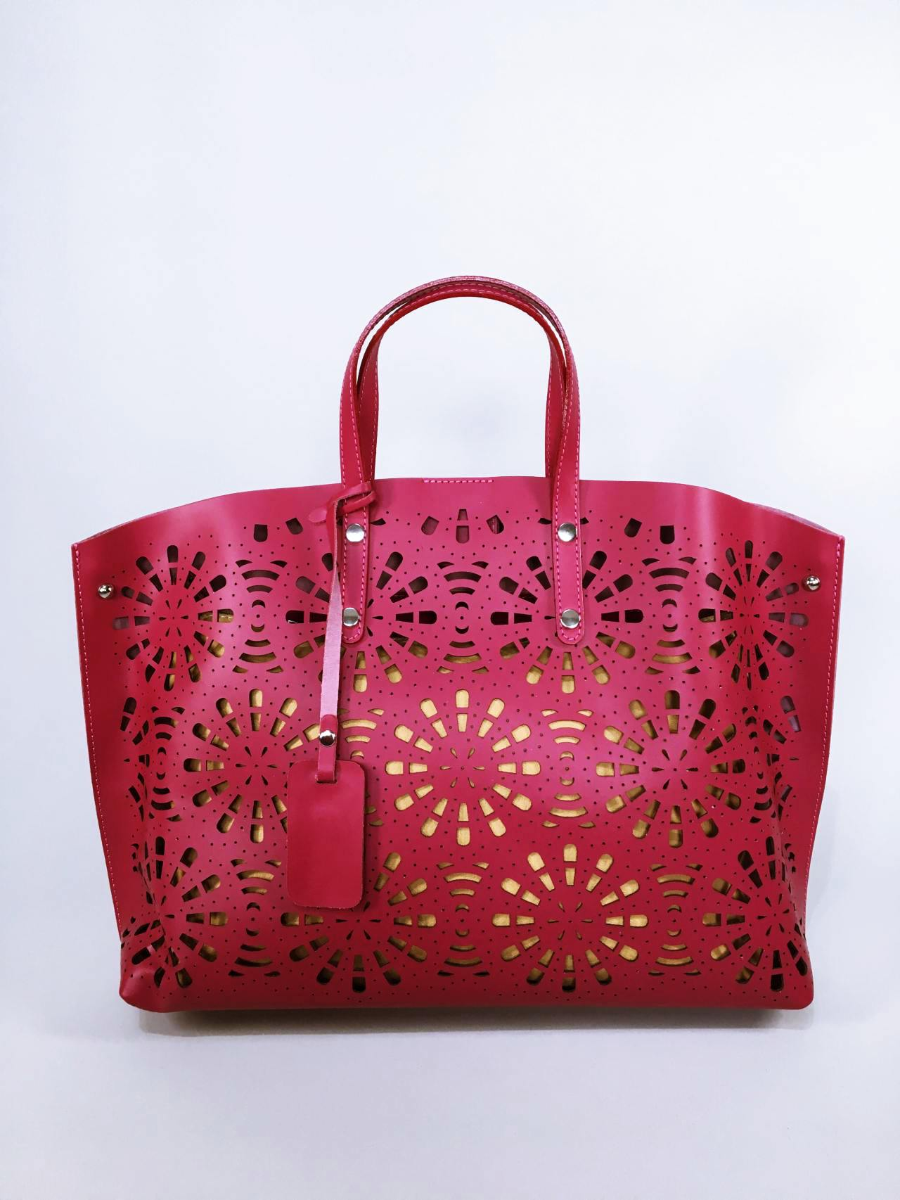 Kožená kabelka Gigi bordó 01