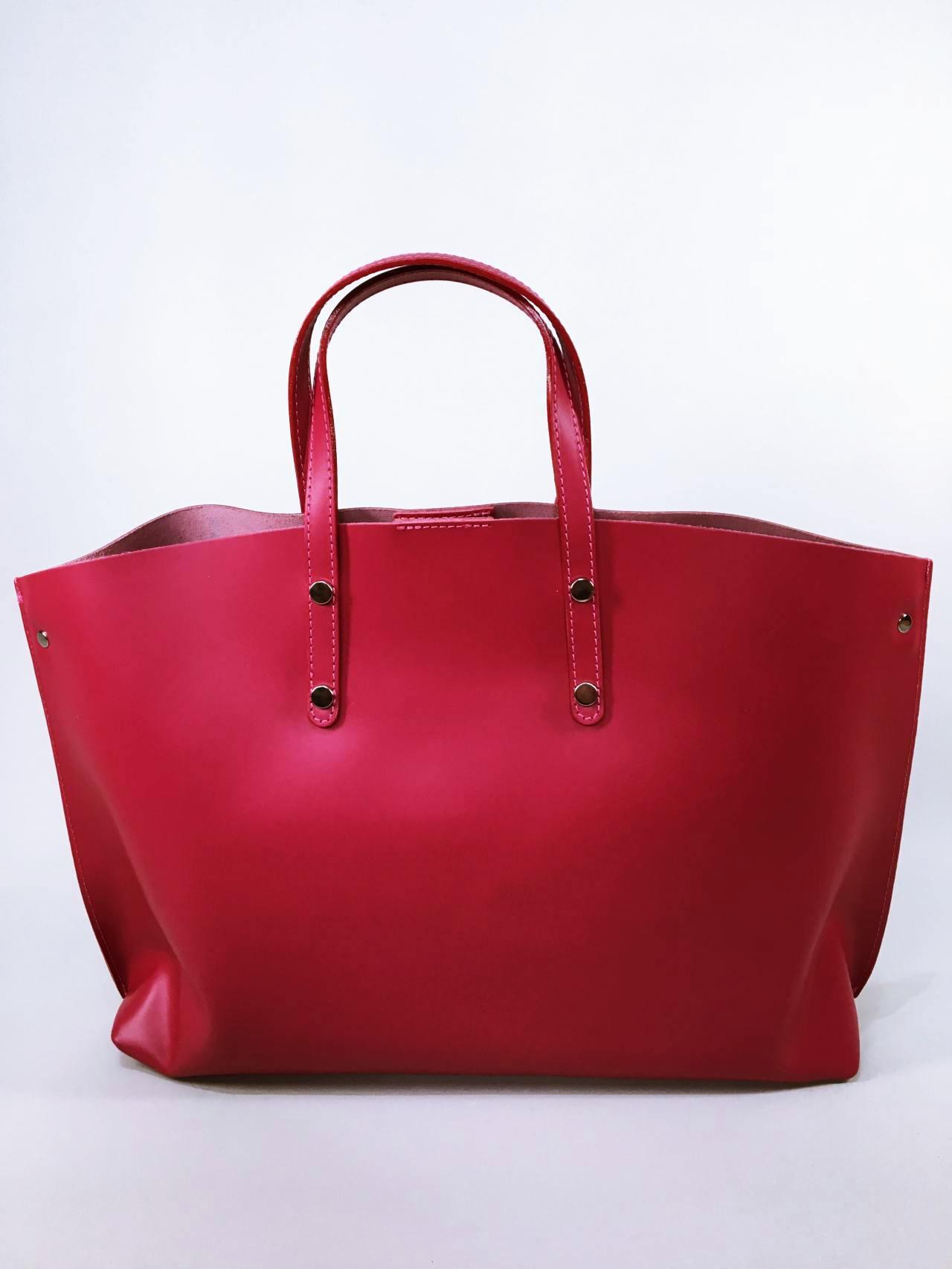 Kožená kabelka Gigi bordó 03