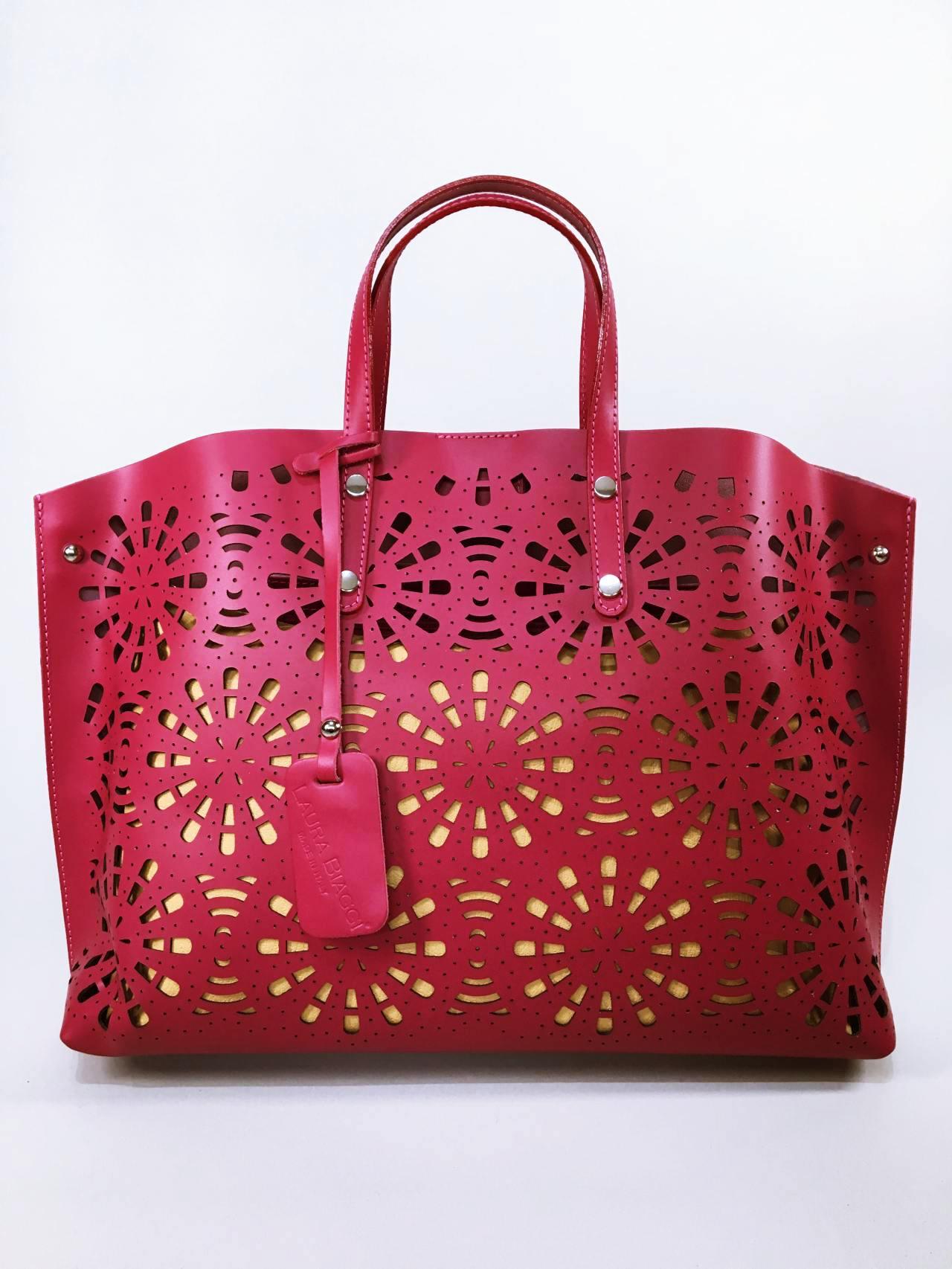Kožená kabelka Gigi bordó 08