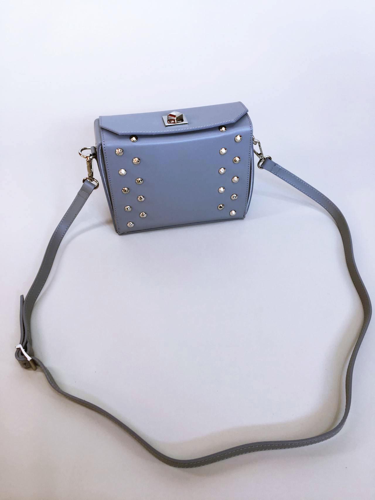 Kožená kabelka Grey 01