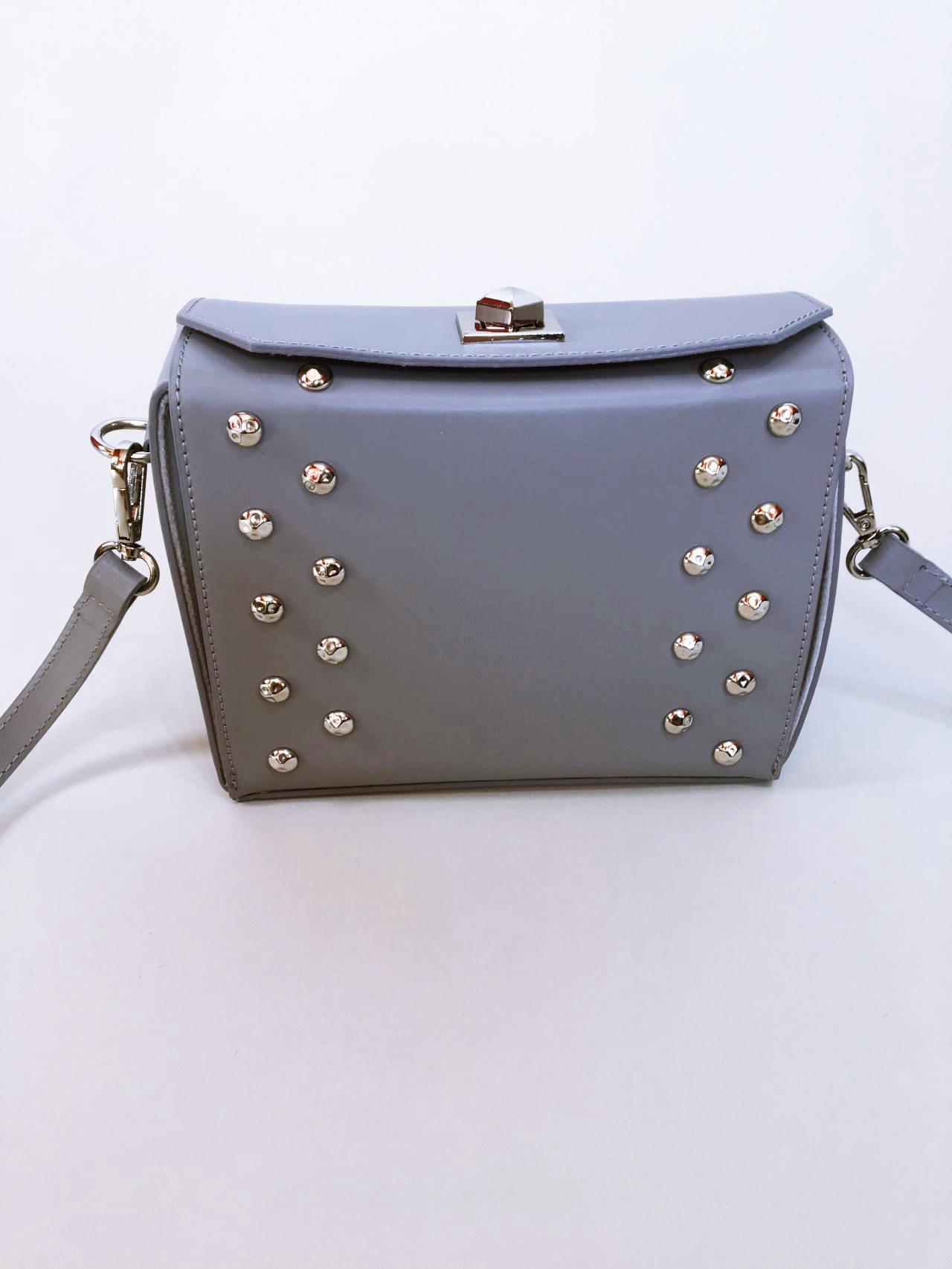 Kožená kabelka Grey 02