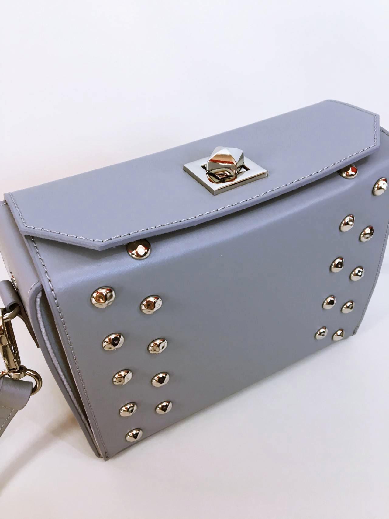 Kožená kabelka Grey – Simm-Fashion.cz cfcf35e870