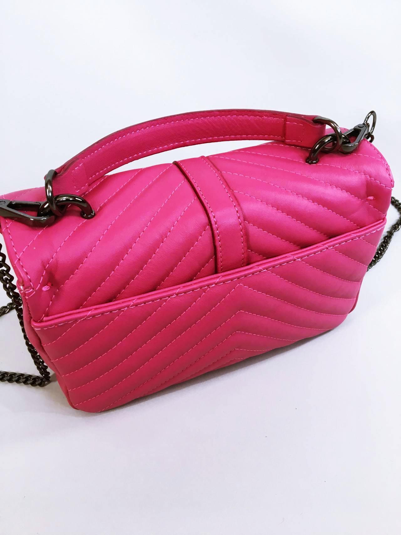 Kožená kabelka Lilly růžová 03