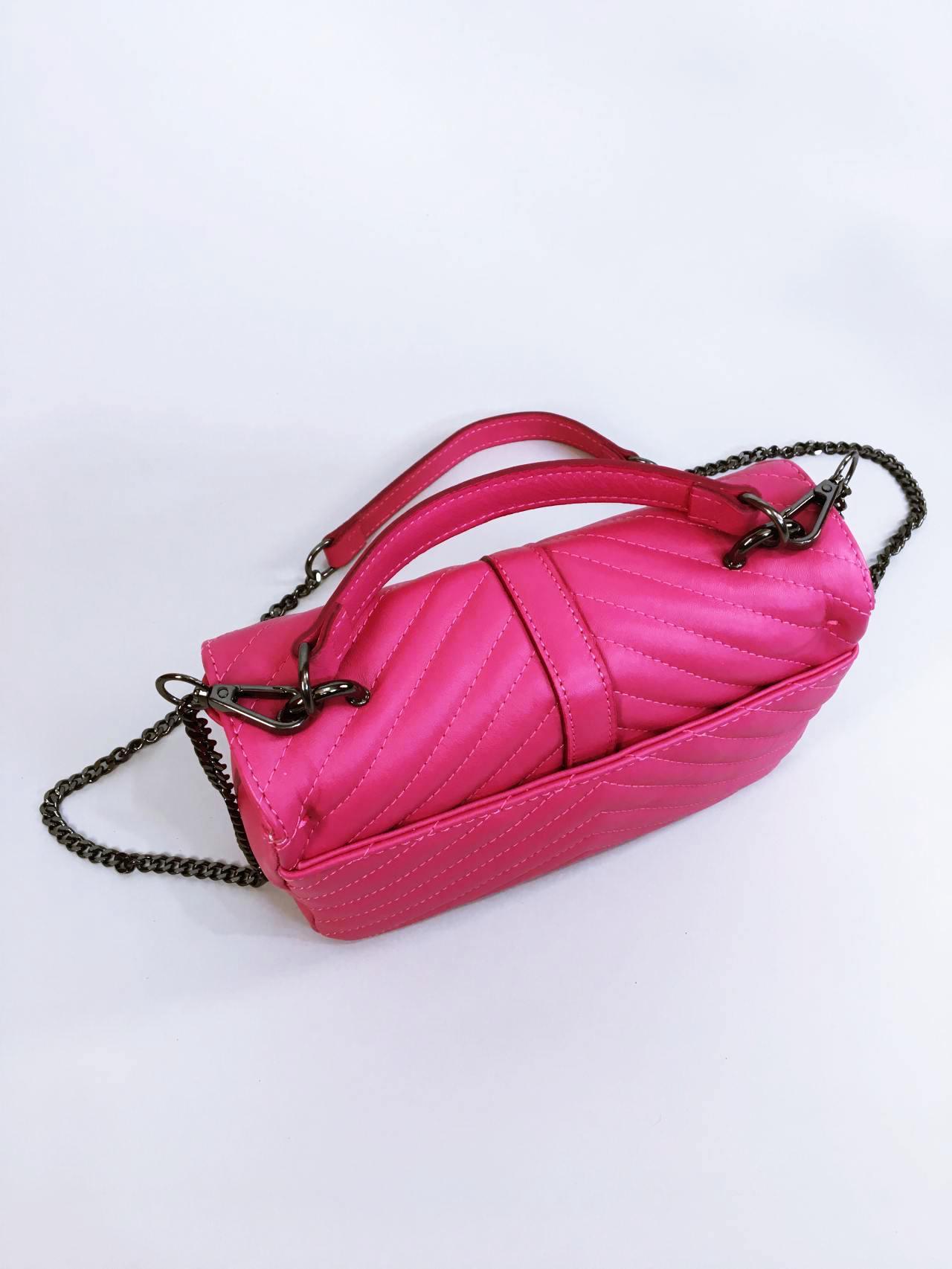 Kožená kabelka Lilly růžová 04