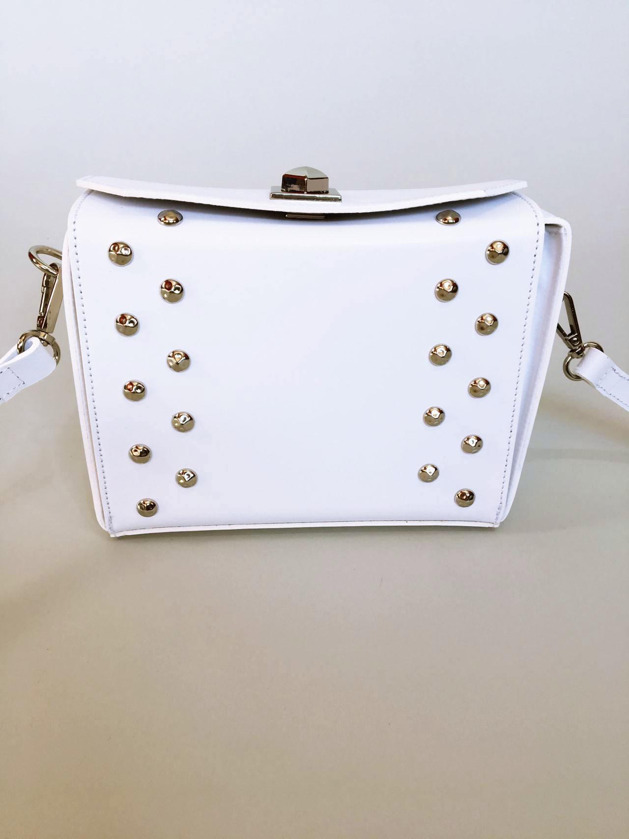 Kožená kabelka White 01