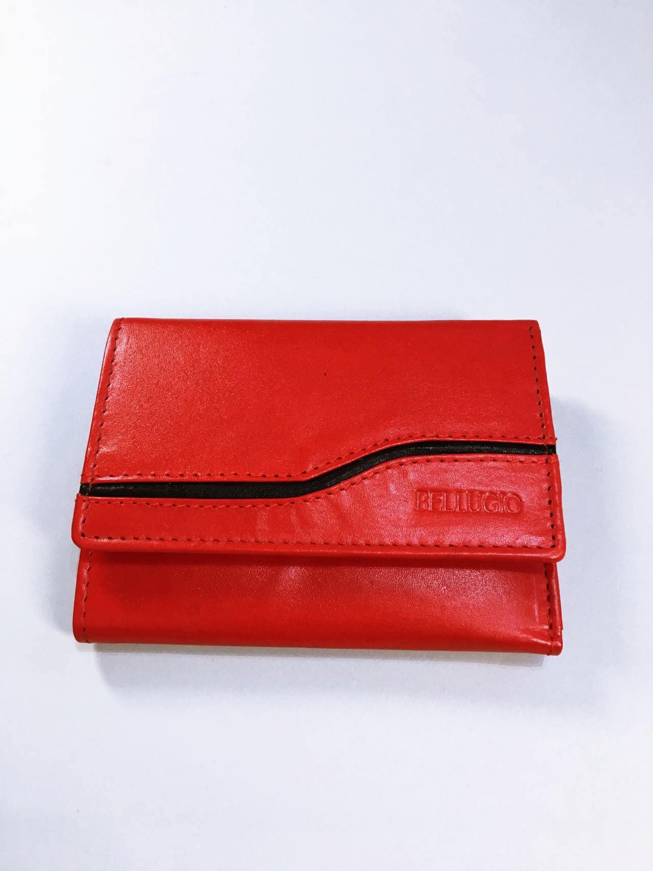 Kožená peněženka Bellugio červená 01