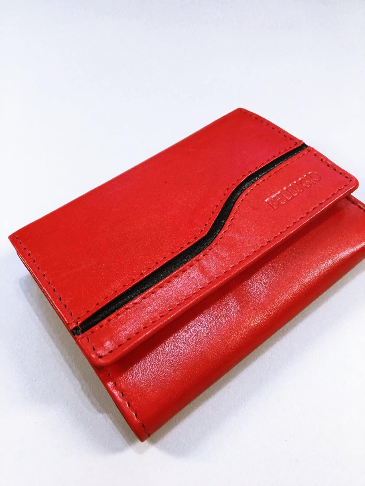 Kožená peněženka Bellugio červená 02
