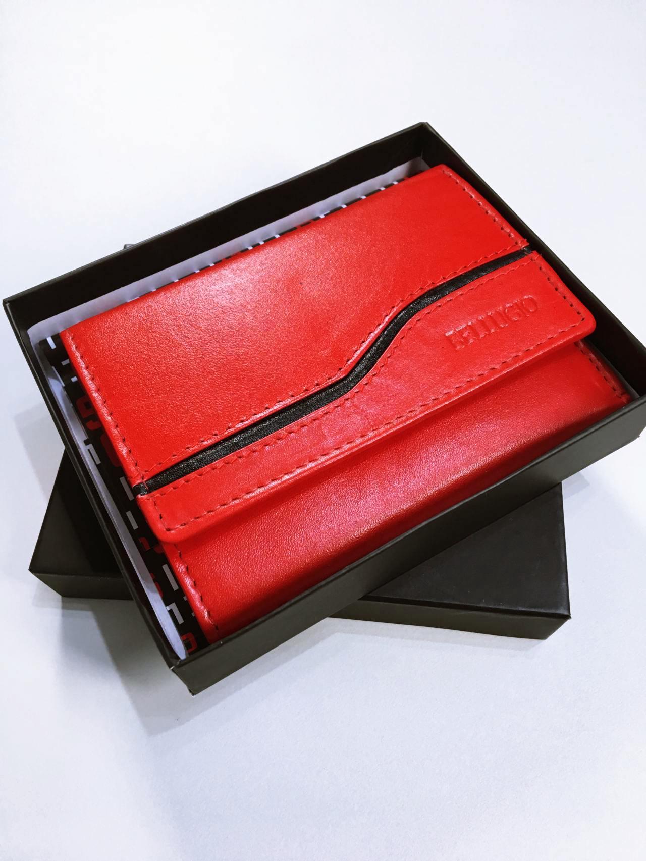 Kožená peněženka Bellugio červená 06