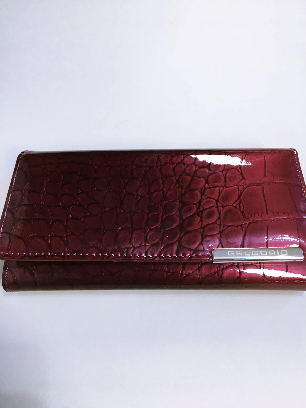 Kožená peněženka Gregorio B tmavě růžová 01