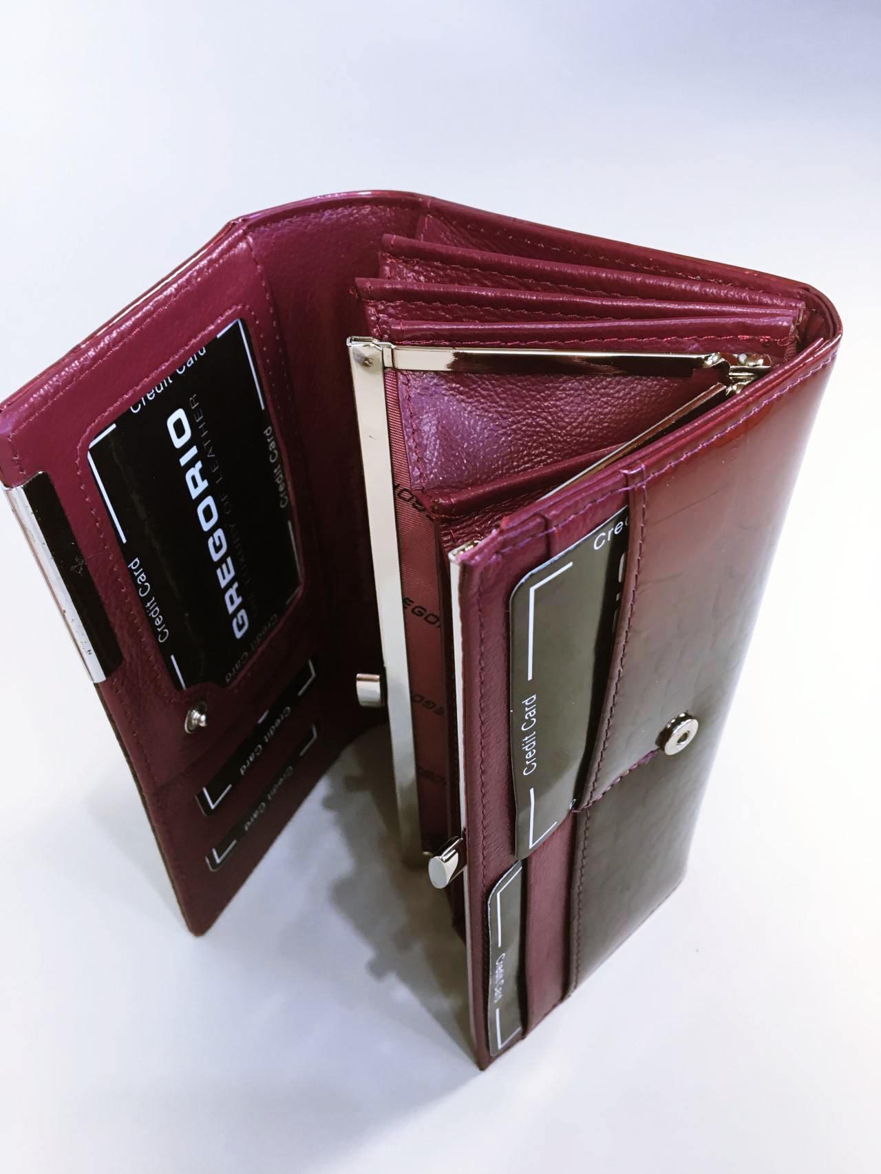 Kožená peněženka Gregorio B tmavě růžová 03