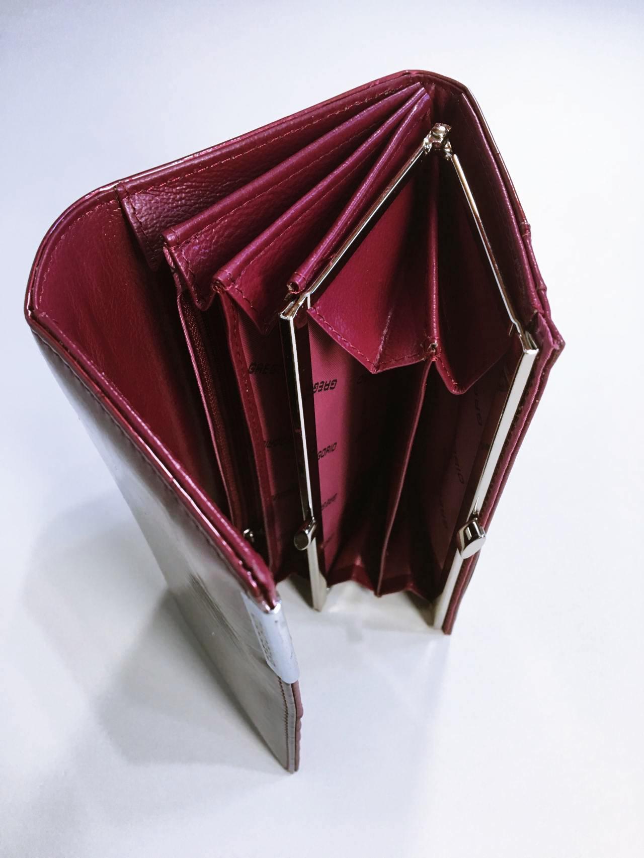Kožená peněženka Gregorio B tmavě růžová 04