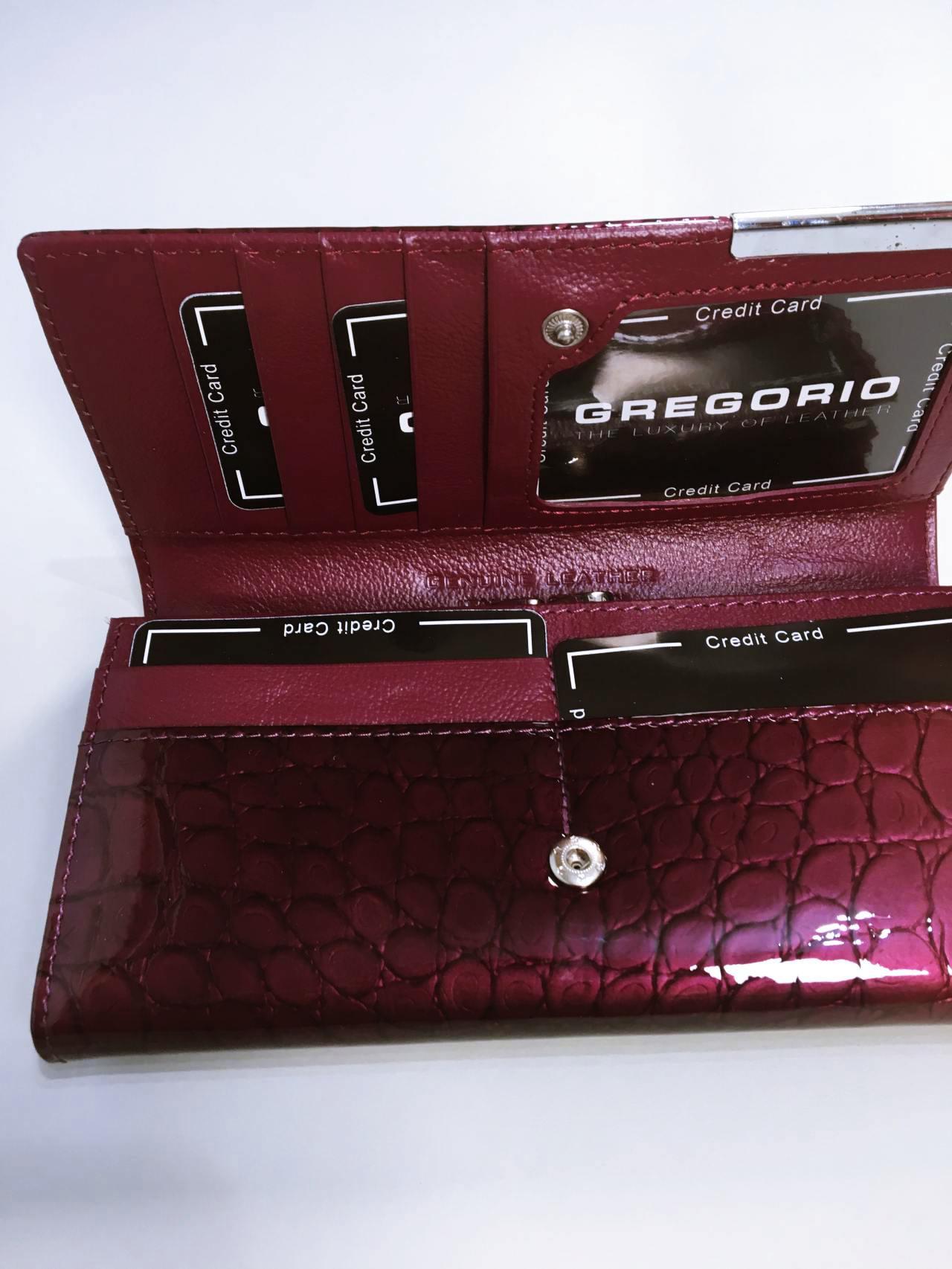 Kožená peněženka Gregorio B tmavě růžová 05