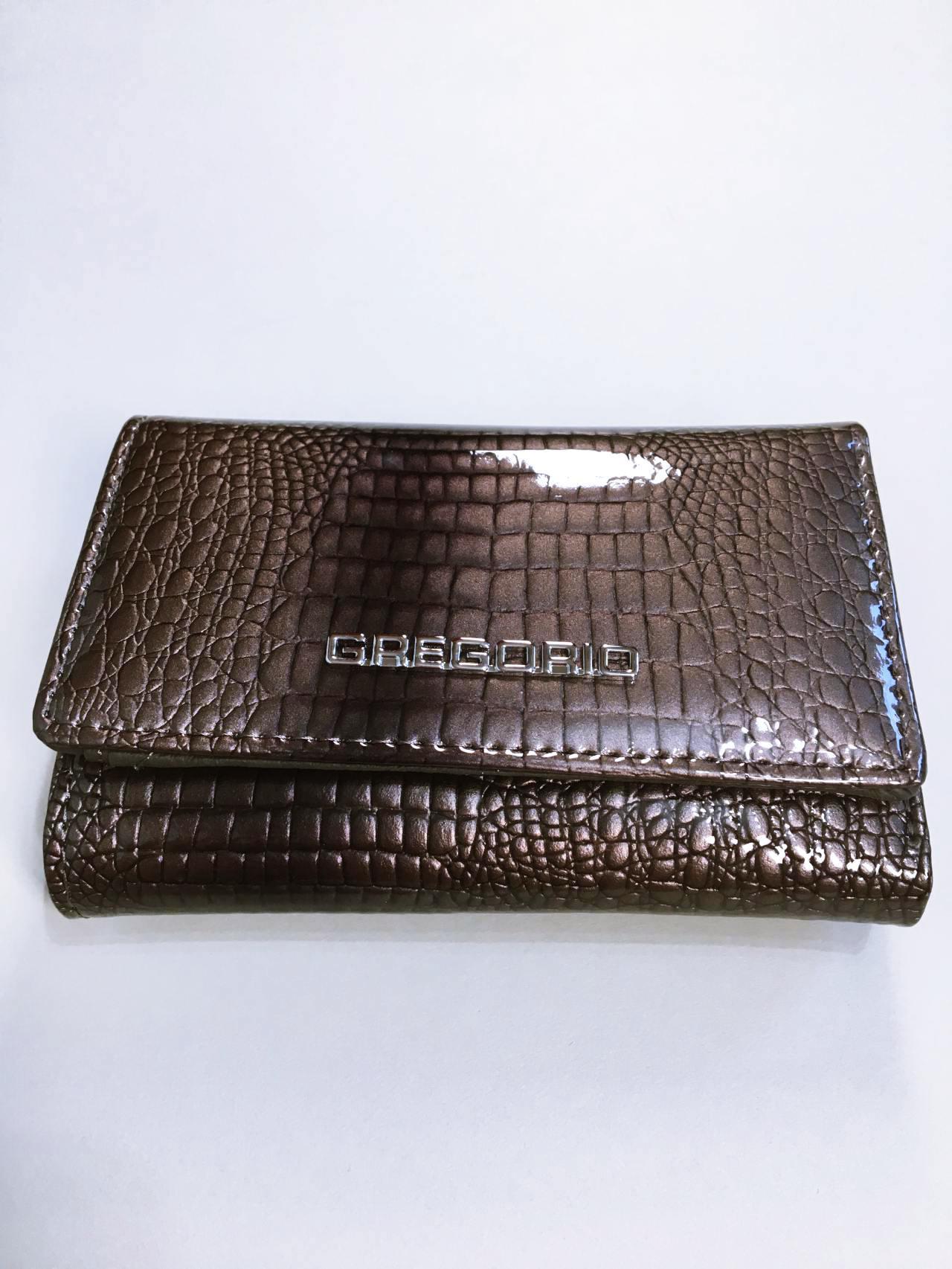 Kožená peněženka Gregorio S šedá 01