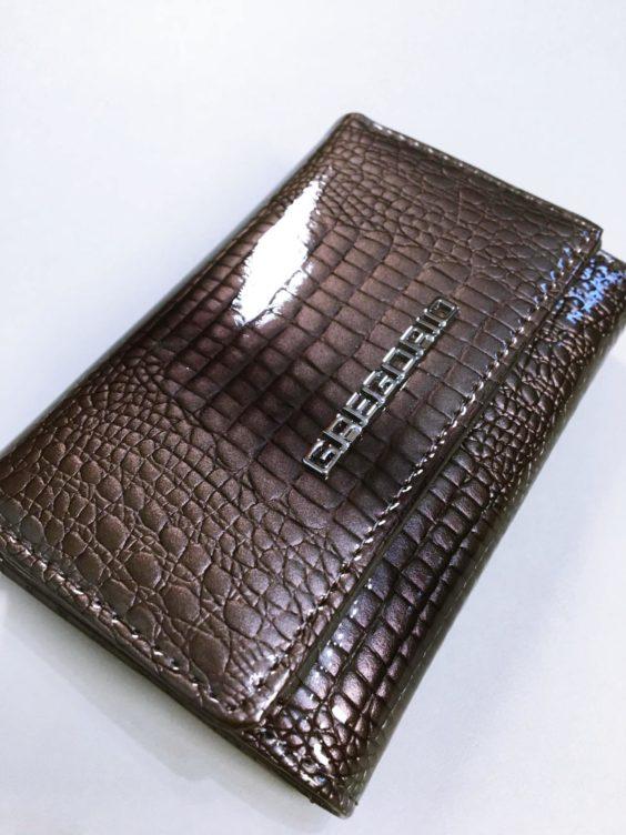 Kožená peněženka Gregorio S šedá 02