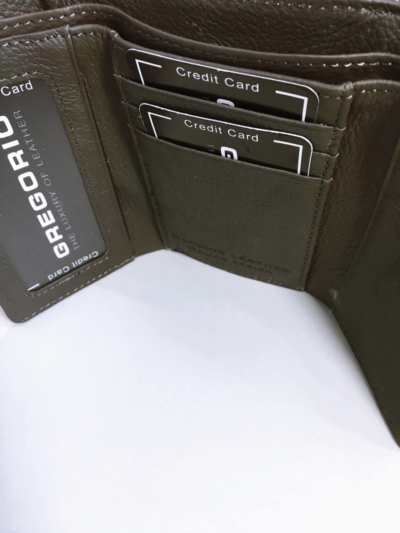 Kožená peněženka Gregorio S šedá 03