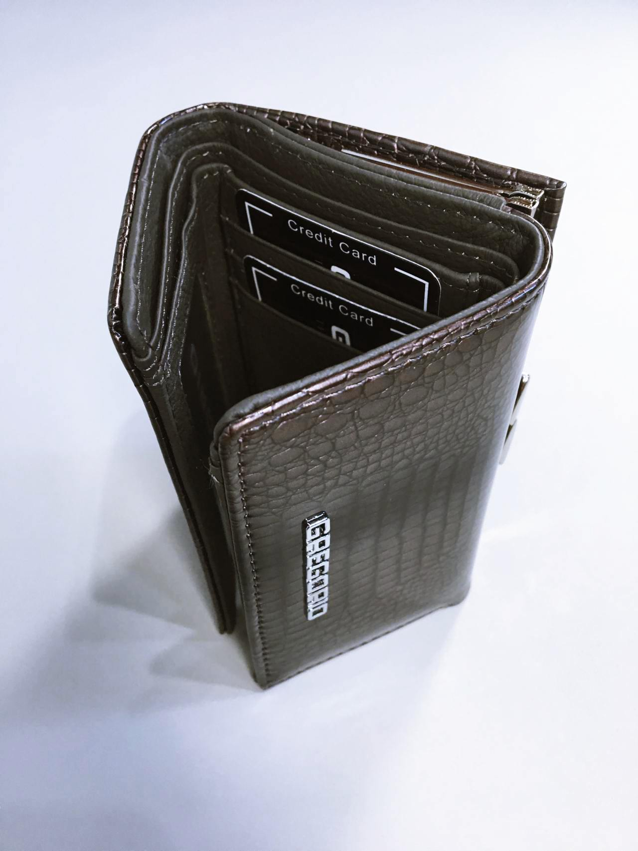 Kožená peněženka Gregorio S šedá 04
