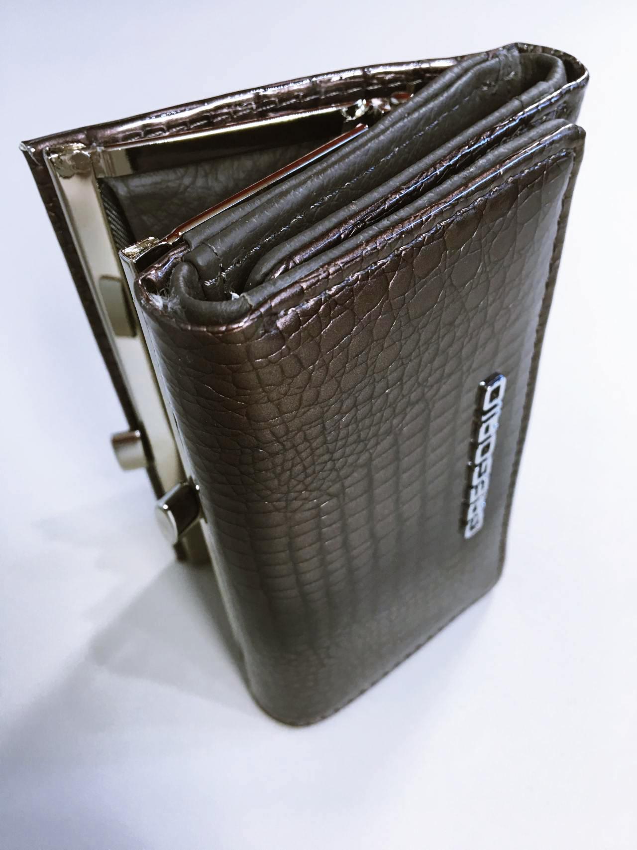 Kožená peněženka Gregorio S šedá 06