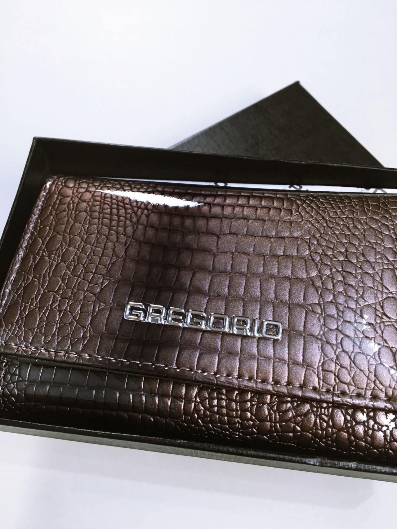 Kožená peněženka Gregorio S šedá 07