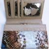 Kožená peněženka Gregorio Snake Skin modrá 03