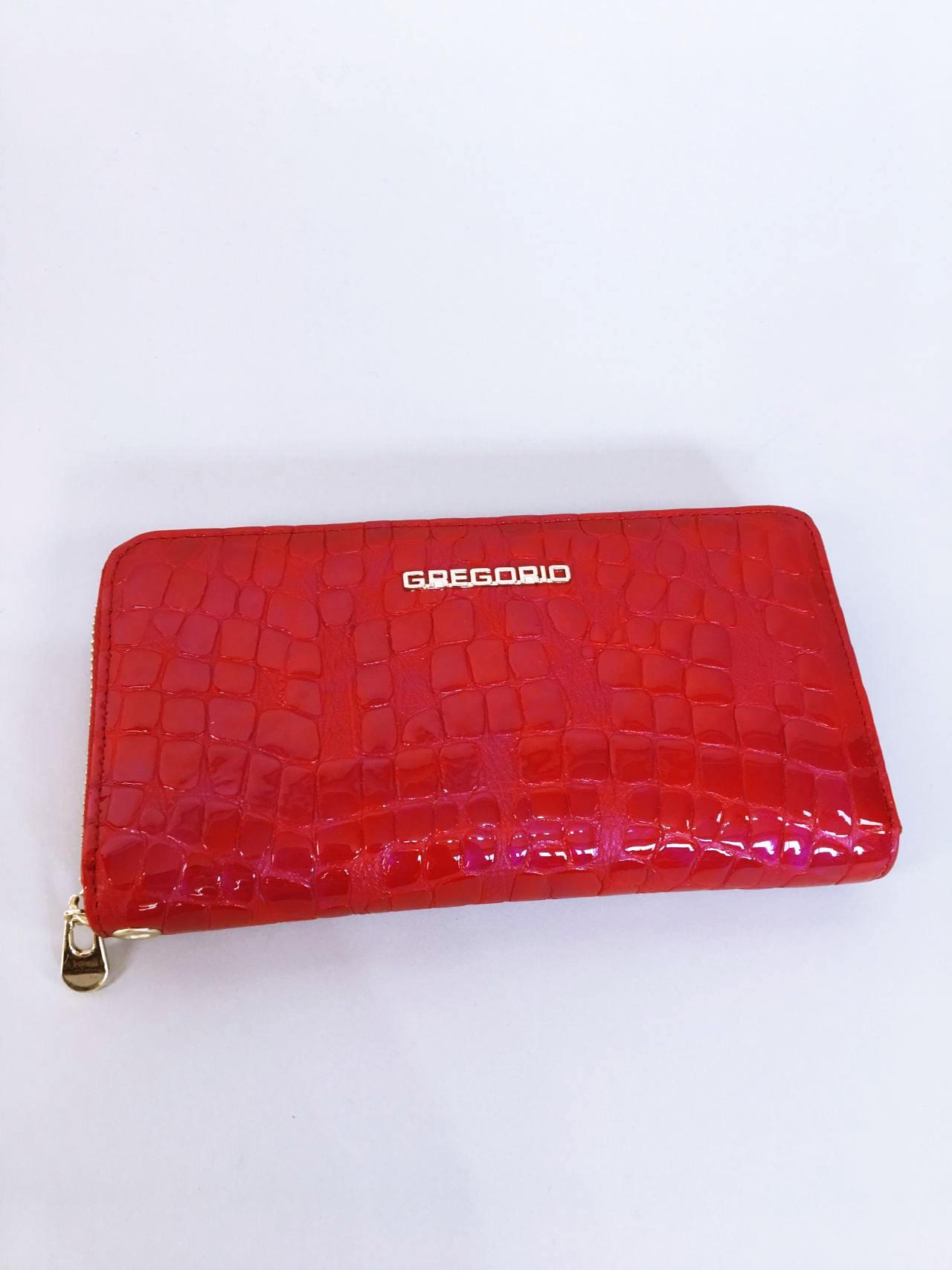 Kožená peněženka Gregorio červená 01