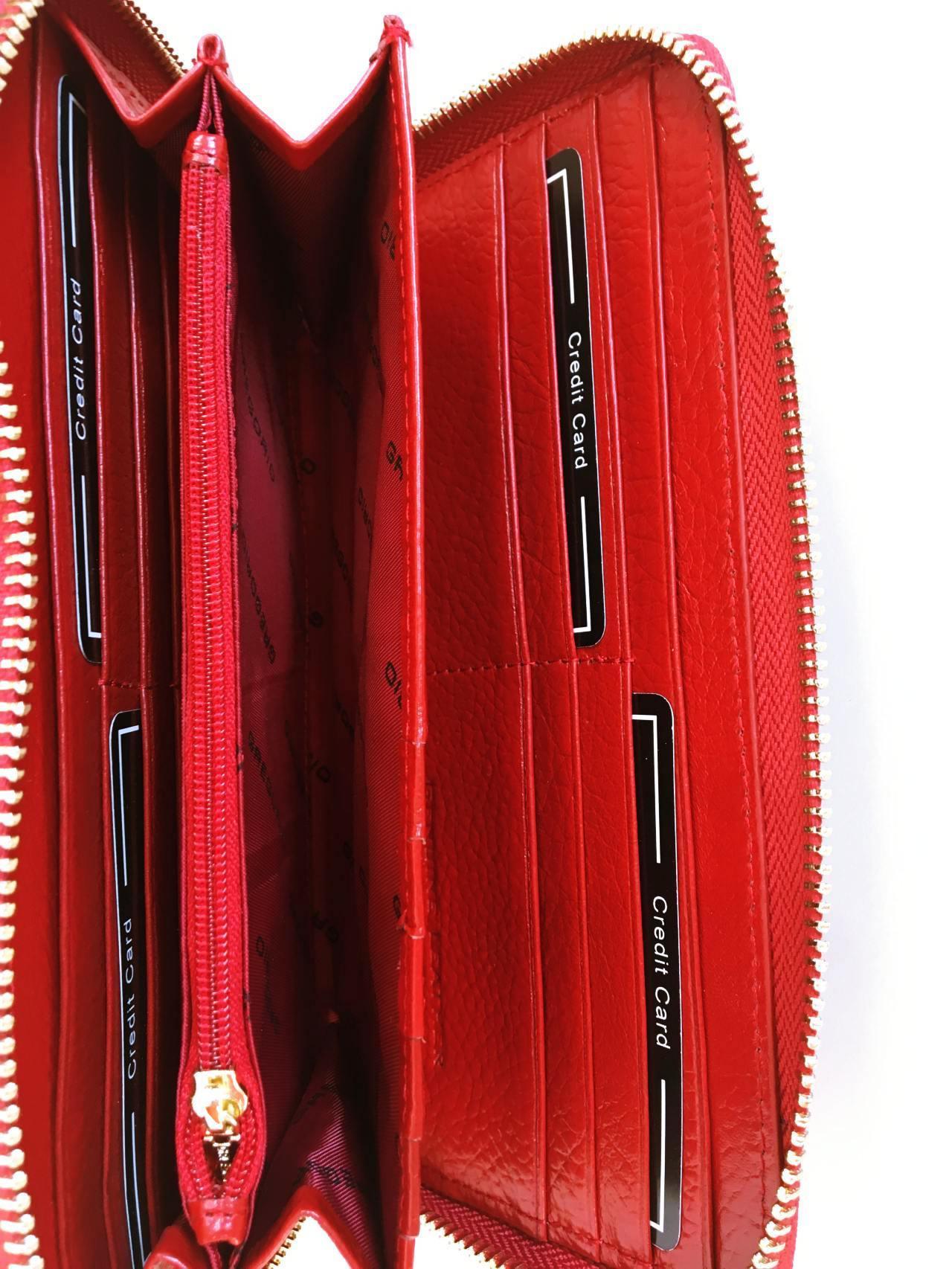 Kožená peněženka Gregorio červená 04