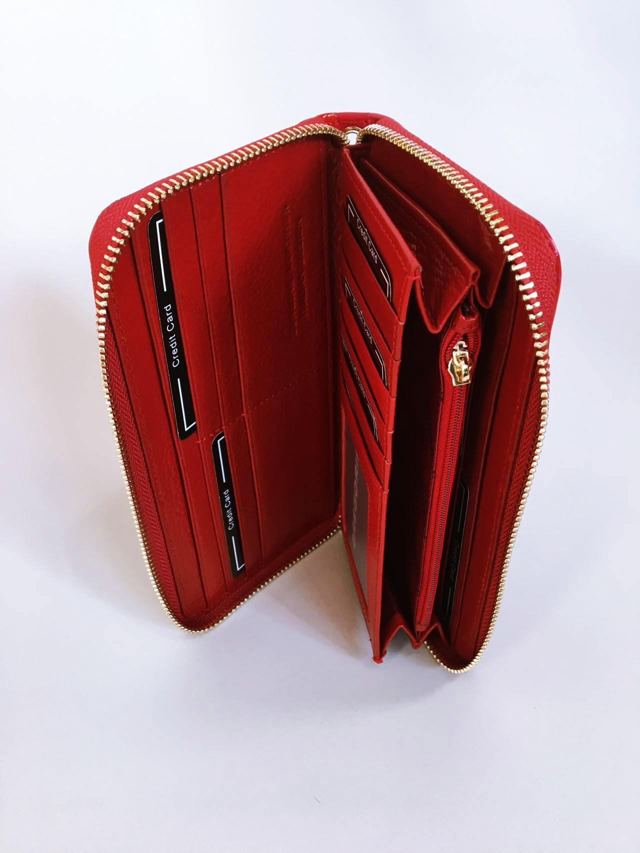 Kožená peněženka Gregorio červená 05