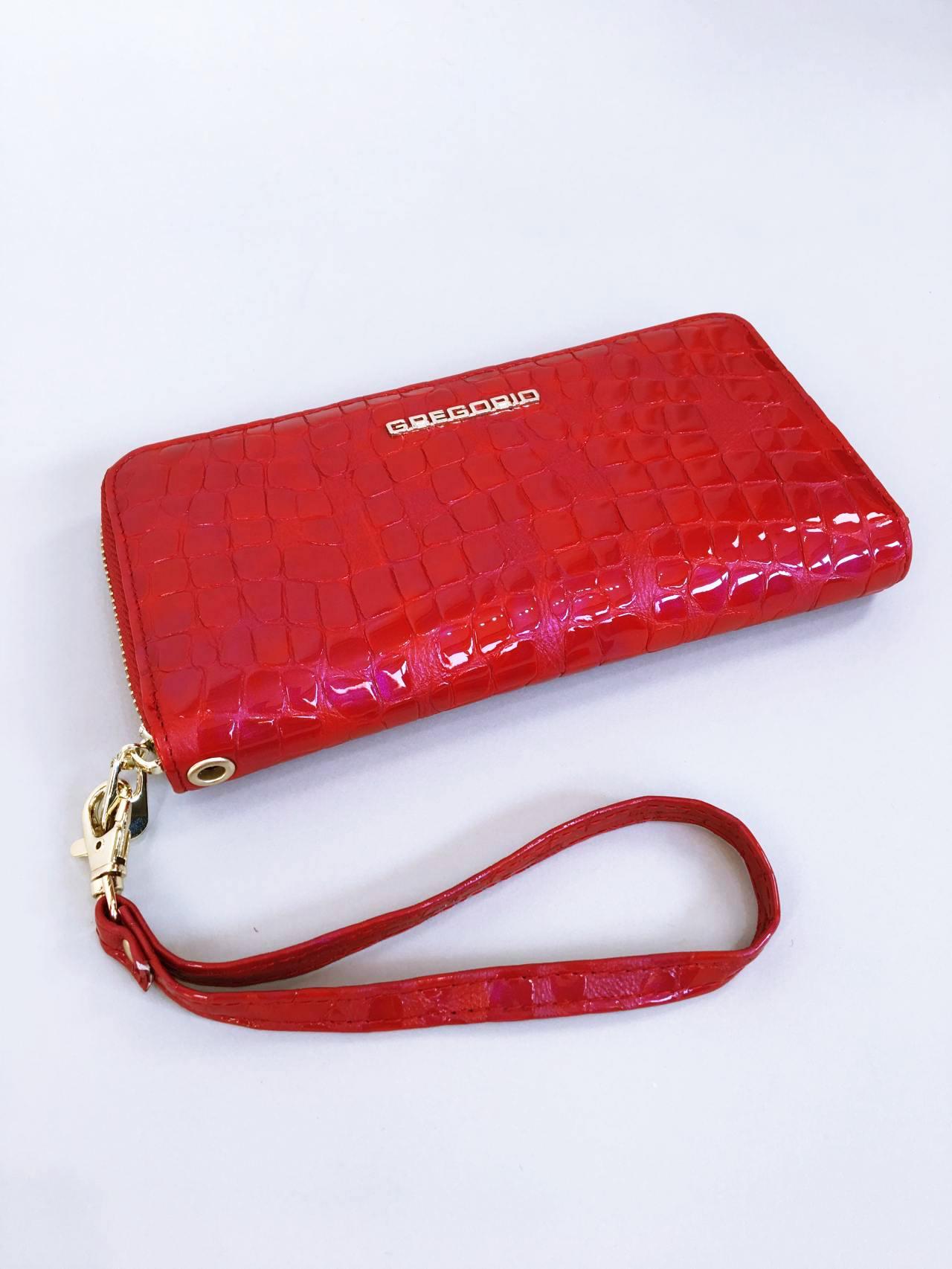 Kožená peněženka Gregorio červená 06