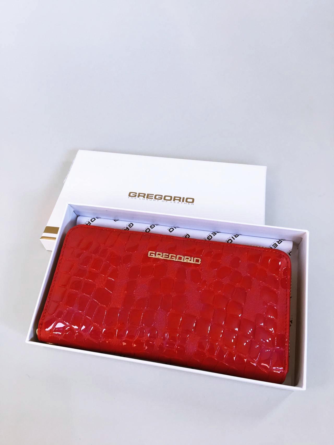 Kožená peněženka Gregorio červená 07