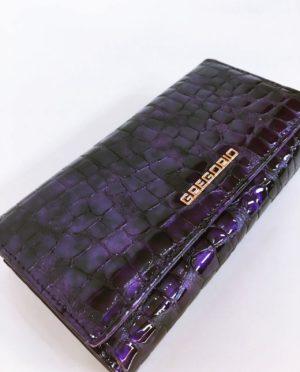Kožená peněženka Gregorio fialová 02