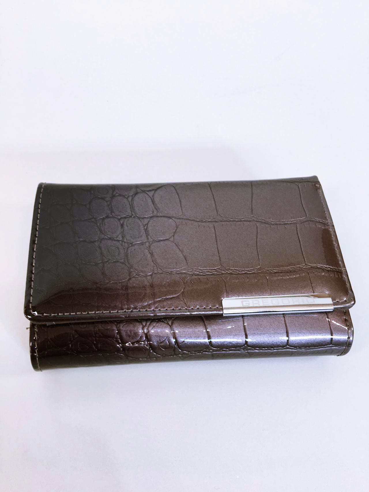 Kožená peněženka Gregorio šedá 01