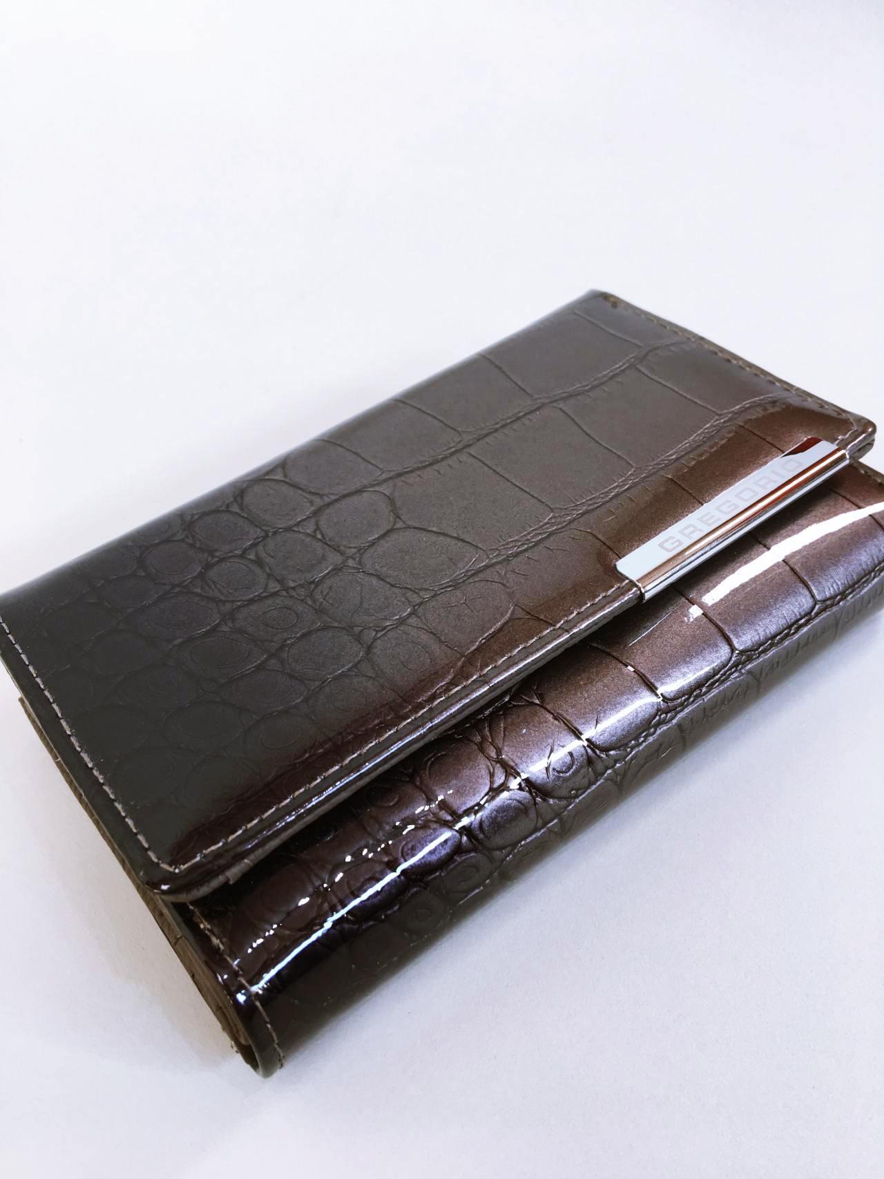 Kožená peněženka Gregorio šedá 02