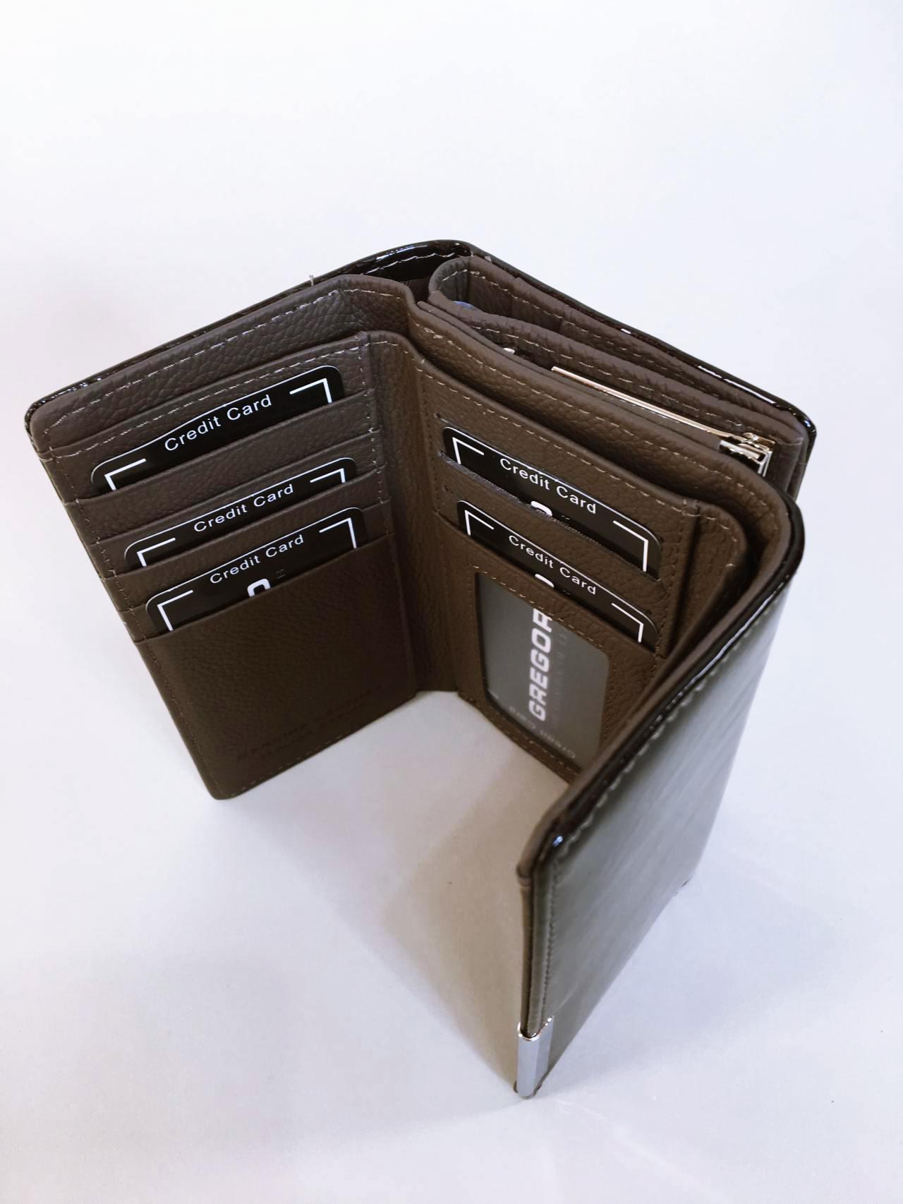 Kožená peněženka Gregorio šedá 04