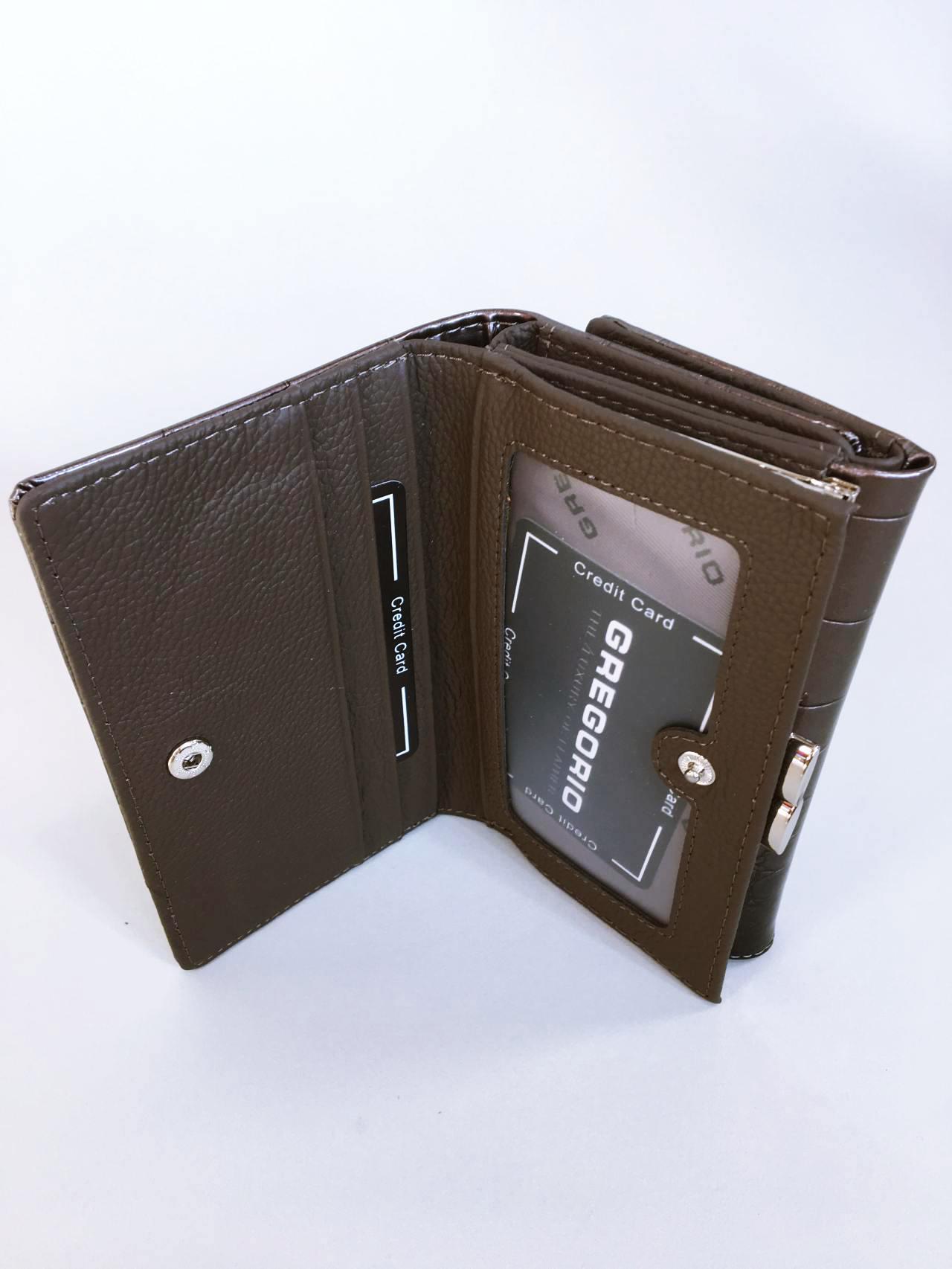 Kožená peněženka Gregorio šedá 05