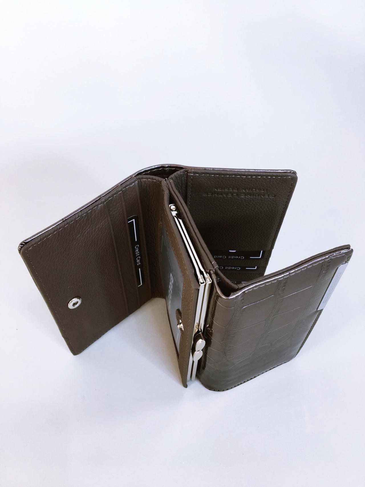 Kožená peněženka Gregorio šedá 06