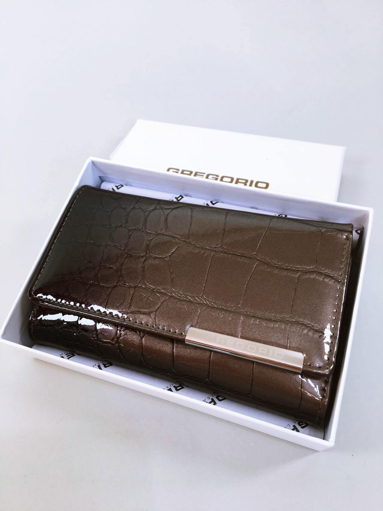 Kožená peněženka Gregorio šedá 08