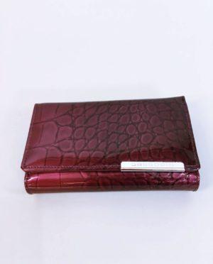 Kožená peněženka Gregorio tmavě růžová 01