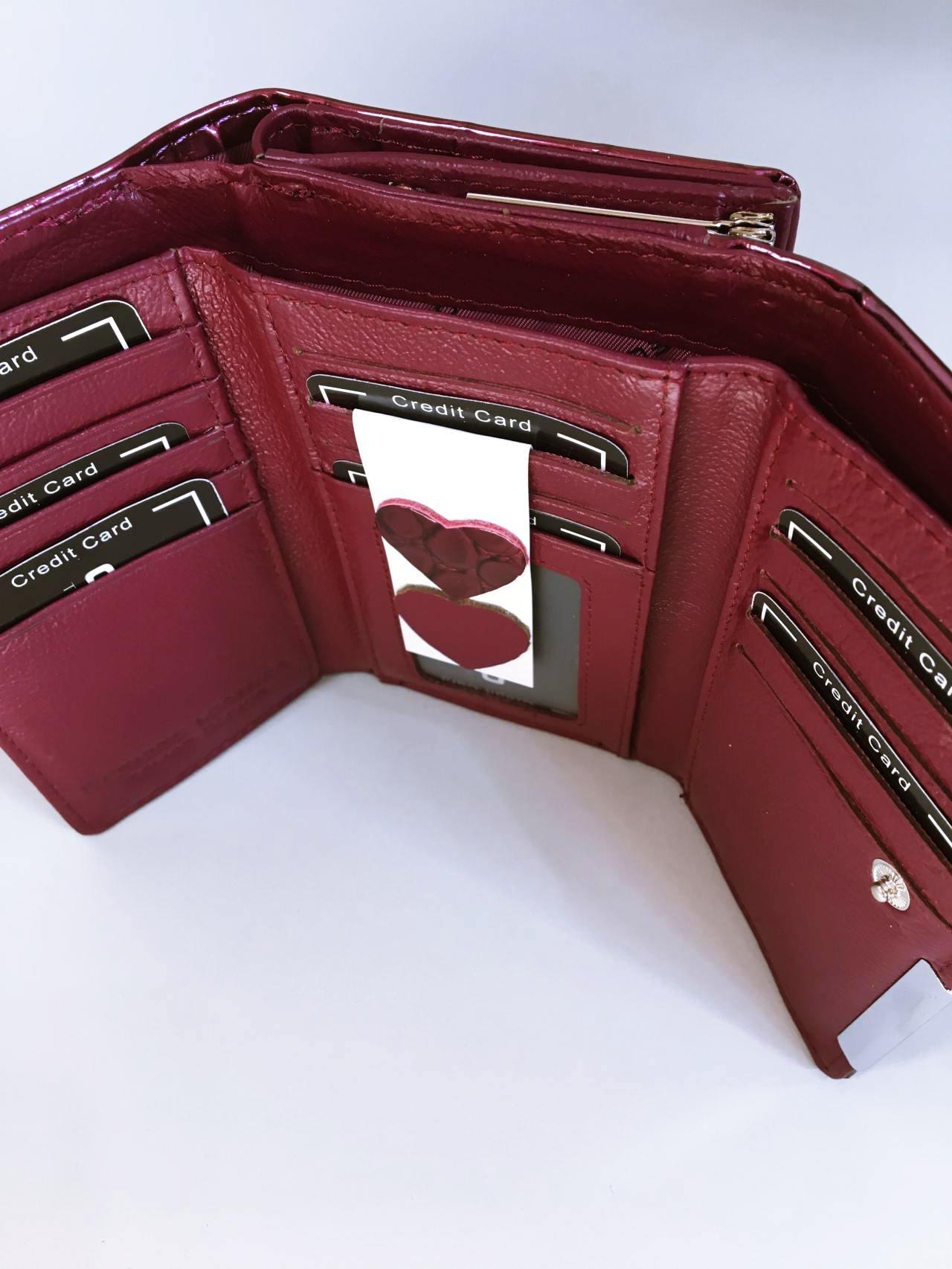 Kožená peněženka Gregorio tmavě růžová 02
