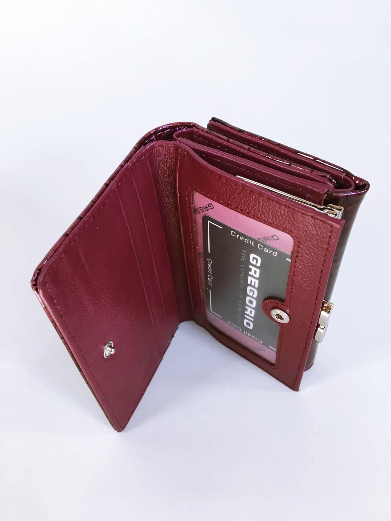 Kožená peněženka Gregorio tmavě růžová 03