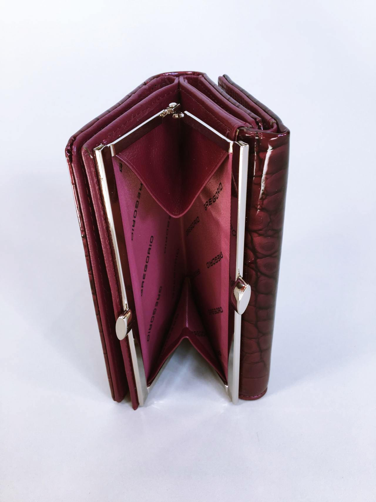 Kožená peněženka Gregorio tmavě růžová 06