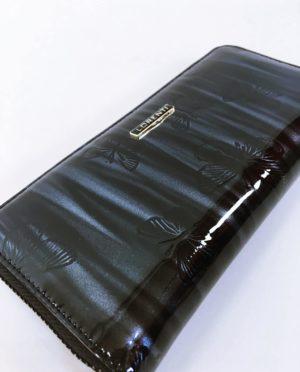Kožená peněženka Lorenti B černo šedá lesklá 02