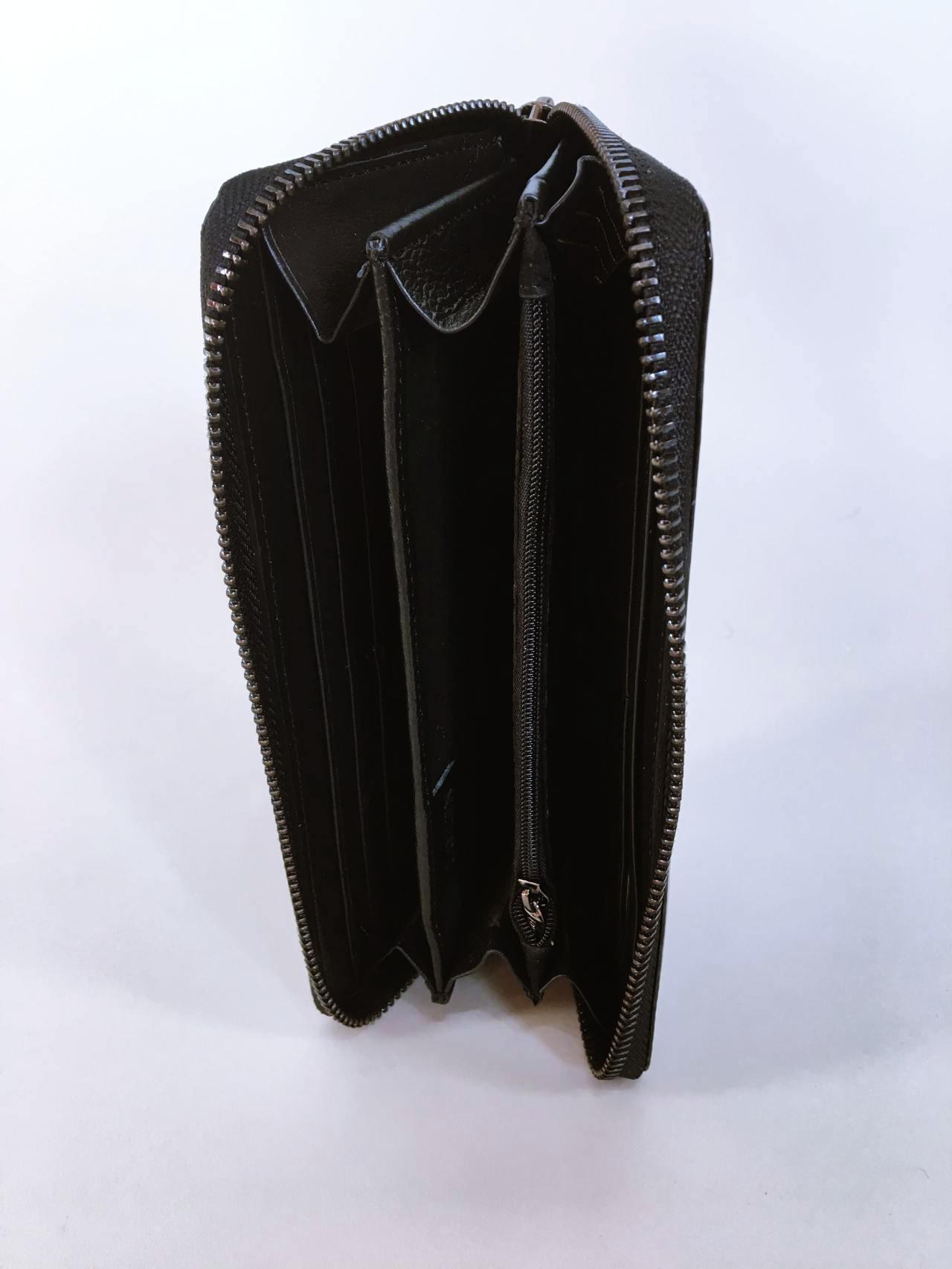 Kožená peněženka Lorenti B černo šedá lesklá 03