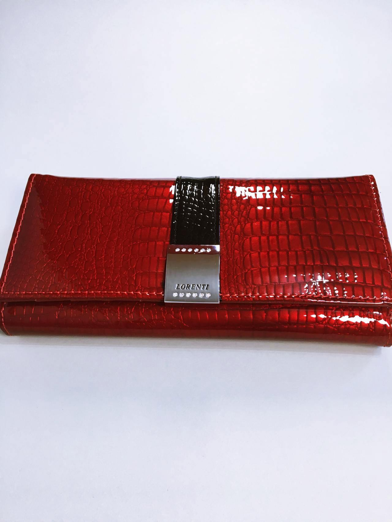 Kožená peněženka Lorenti B tmavě červená lesklá 01