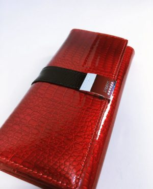 Kožená peněženka Lorenti B tmavě červená lesklá 02