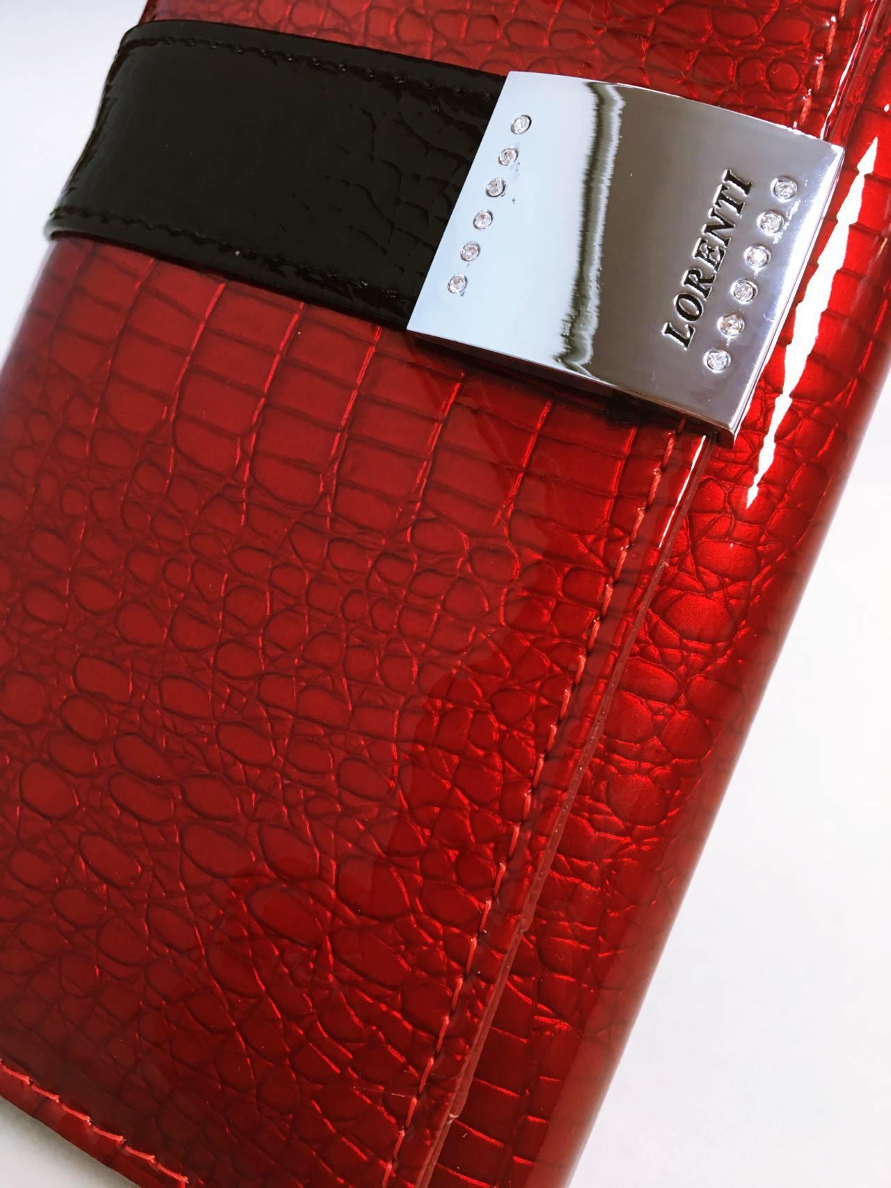 Kožená peněženka Lorenti B tmavě červená lesklá 03