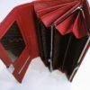 Kožená peněženka Lorenti B tmavě červená lesklá 05