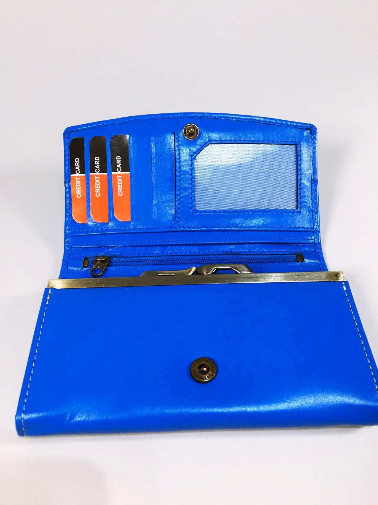 Kožená peněženka Lorenti N modrá 03