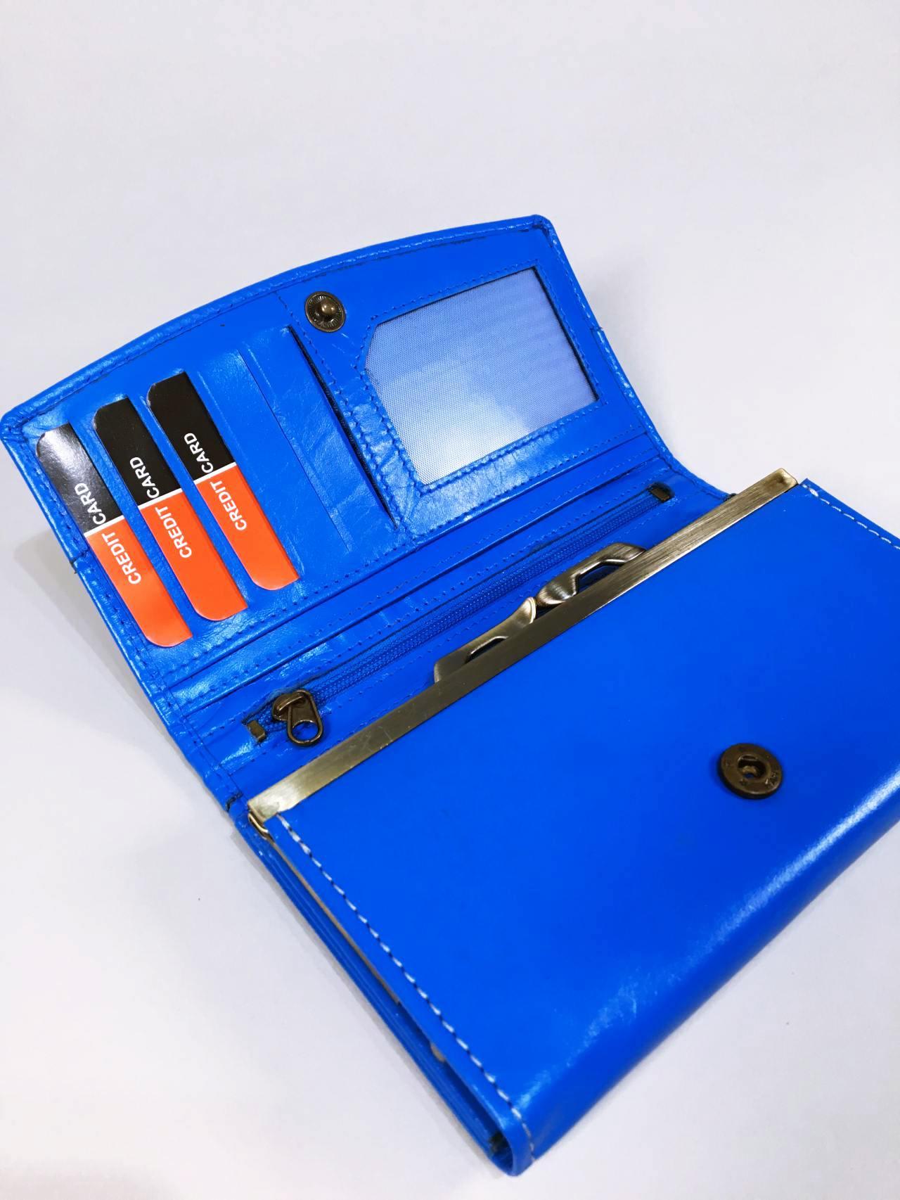 Kožená peněženka Lorenti N modrá 04