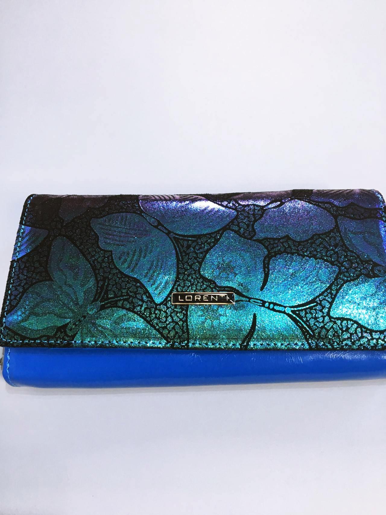 Kožená peněženka Lorenti Silver Blue 01