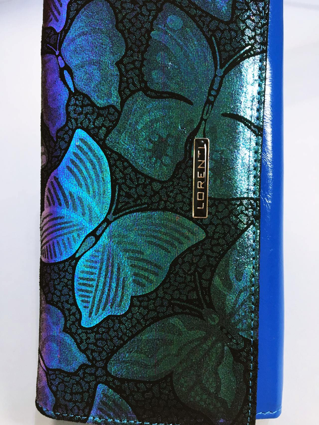 Kožená peněženka Lorenti Silver Blue 03